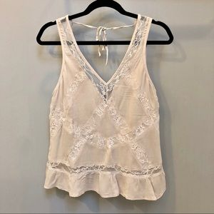American Eagle Pink Lace Tank